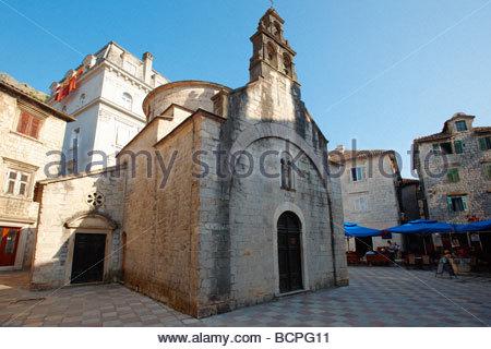 Serbia Orthodox chapel - Kotor Montenegro - Stock Photo