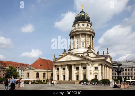 Franzoesischer Dom, Gendarmenmarkt, Berlin, Germany - Stock Photo