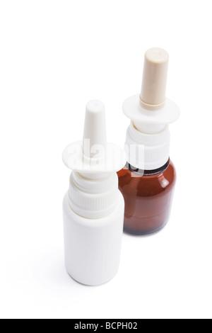 Bottles of Nasal Spray - Stock Photo