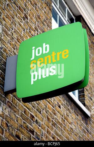 Sign on Job Centre, London - Stock Photo