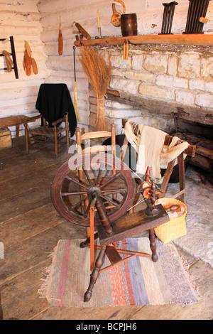 McGinty Blockhouse at Old Fort Harrod State Park Harrodsburg Kentucky - Stock Photo