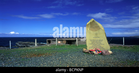 Russian Convoy Club memorial at Cove, Loch Ewe, Wester Ross, Scotland - Stock Photo