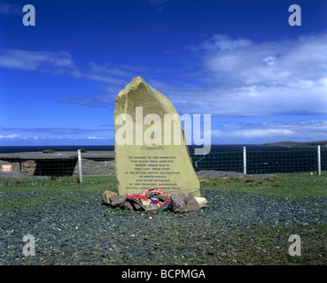 Russian Convoy Club memorial at Cove, Wester Ross, Scotland - Stock Photo