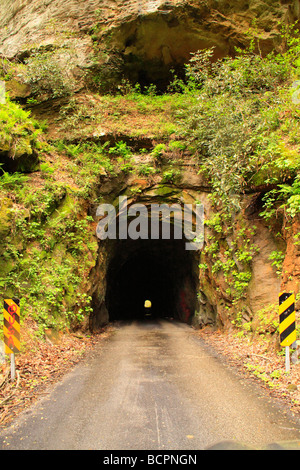 Nada Tunnel Red River Gorge Scenic Byway Red River Gorge Geological Area Slade Kentucky - Stock Photo