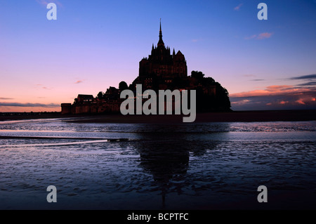 Mont Saint Michel Benedictine abbey Normandy France - Stock Photo
