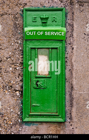 Out of service An Post green postbox - Stock Photo