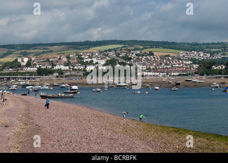 The river Teign at lowtide - Stock Photo