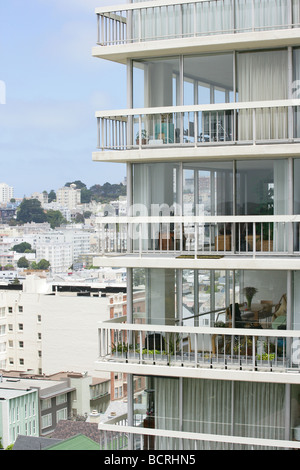 American apartments in Pacific Heights San Francisco - Stock Photo