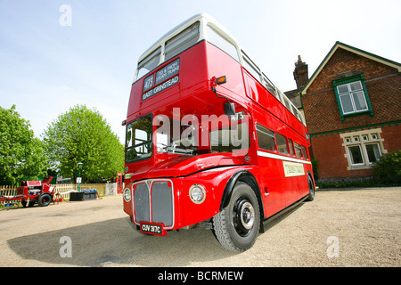 London bus double decker red classic Routemaster - Stock Photo