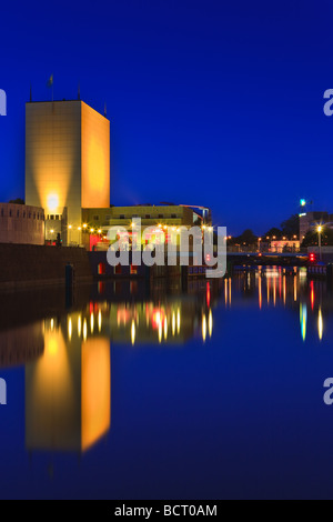 Groninger Museum at the Blue Hour, Groningen, Netherlands - Stock Photo