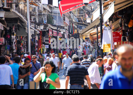 ISTANBUL, TURKEY. A busy, colourful street scene in the Cagaloglu district of the city. 2009. - Stock Photo
