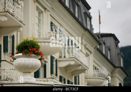 The Grand Hotel at Zell am See in Austria - Stock Photo