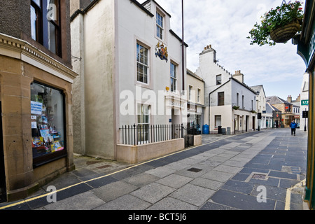 Pedestrianised Albert Street in Kirkwall Orkney Mainland Scotland - Stock Photo