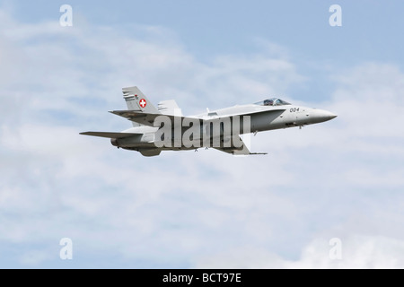 A Swiss air force F18 Hornet Stock Photo