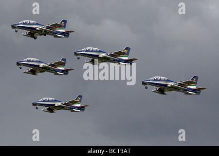 The Italian air force aerobatic team - the Frecce Tricolori - Stock Photo