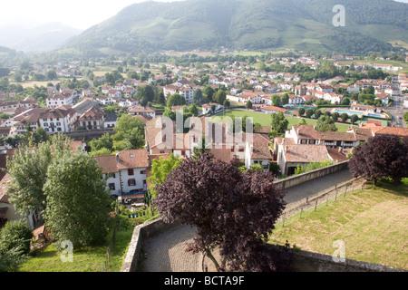 St Jean Pied de Port Basque Country Pyrenees Atlantiques Aquitaine France - Stock Photo