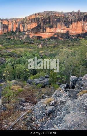 Nourlangie Rock from Gun-warddehwardde Lookout in Kakadu National Park UNESCO World Heritage site. Northern Territory, - Stock Photo