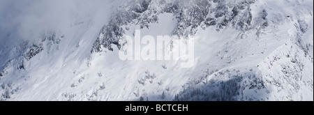 Hoher Goell massif in winter, Berchtesgaden national park Bavaria, Germany - Stock Photo