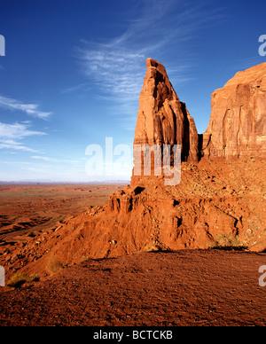 Monument Valley, Navajo Nation Reservation, Colorado Plateau, Arizona, USA - Stock Photo