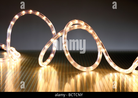 led light tube chain of lights christmas illumination stock photo - Tube Christmas Lights