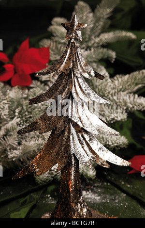 Decoration, Christmas tree in Christmas ambience - Stock Photo