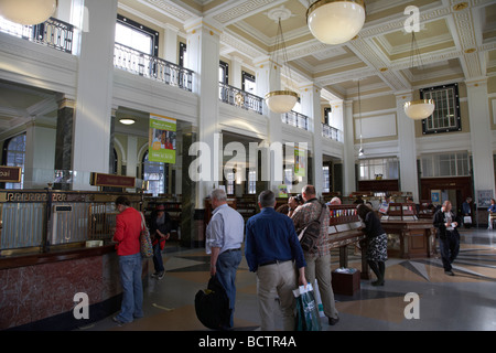 Interior of the general post office GPO on oconnell street in dublin city centre republic of Ireland - Stock Photo
