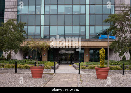 entrance to the Allied Irish Bank AIB international centre in the IFSC dublin docklands republic of ireland - Stock Photo