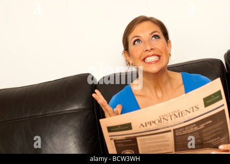 woman finding her dream job - Stock Photo