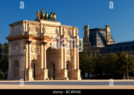 Arc de Triomphe du Carrousel, Paris France - Stock Photo