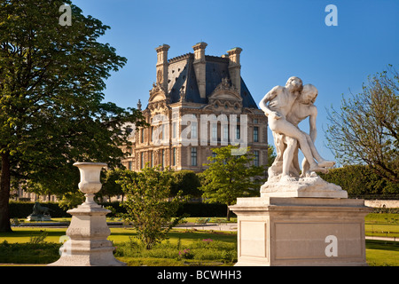 Statue in Jardin des Tuileries, Paris France - Stock Photo