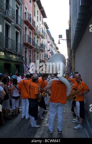 San Fermin Festival, Pamplona, Spain - Stock Photo