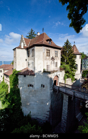 The Altes Schloss old castle, Meersburg on Lake Constance, administrative district of Tuebingen, Bodenseekreis district, - Stock Photo
