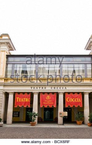 coccia theatre, novara, piedmont, italy - Stock Photo