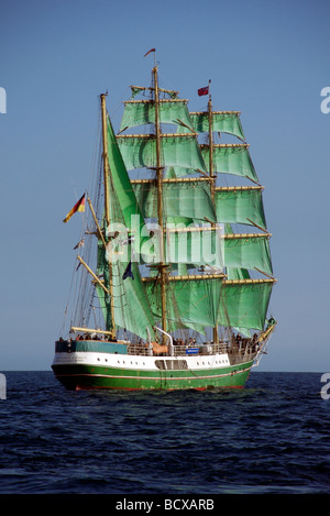The Alexander Von Humboldt three masted barque ship from Germany, Funchal 500 Tall Ships Regatta 2008, Falmouth, - Stock Photo