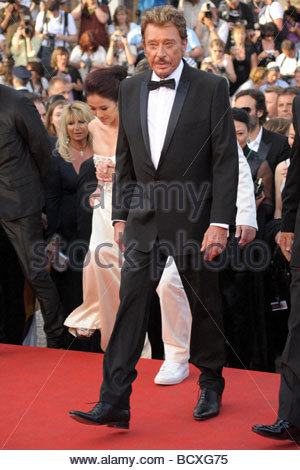 johnny hallyday, cannes 2009, 62nd cannes film festival - Stock Photo