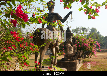 the garden of the Buddhas, Xieng Khuan, nr Vientiane, Laos - Stock Photo