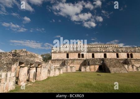 Mexico, Yucatan, Kabah, El Palacio (The Palace) - Stock Photo