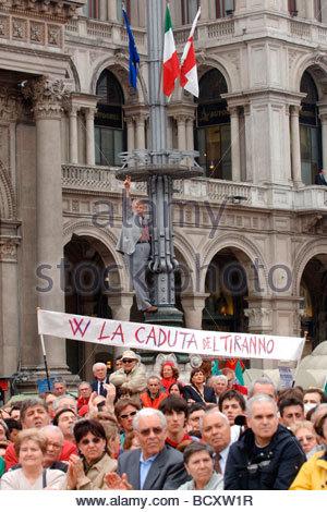 milan, 25 april demonstration - Stock Photo