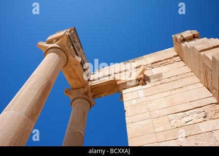 Temple of Apollo near Kourion Cyprus Europe - Stock Photo