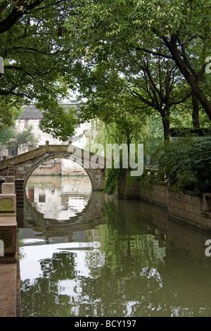 Old bridge in Tongli China - Stock Photo