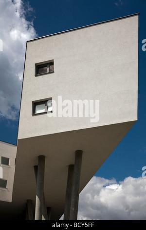 housing complex by Zaha Hadid at Spittlelau viaducts, Vienna, Austria - Stock Photo