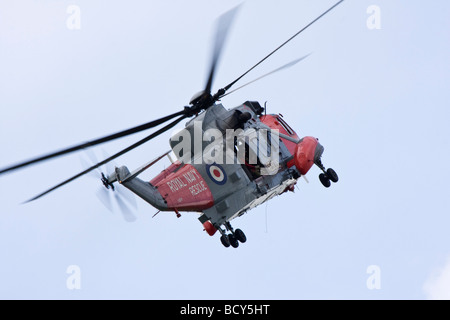 Royal Navy Sea King HU Mk5 Search and Rescue Helicopter - Stock Photo