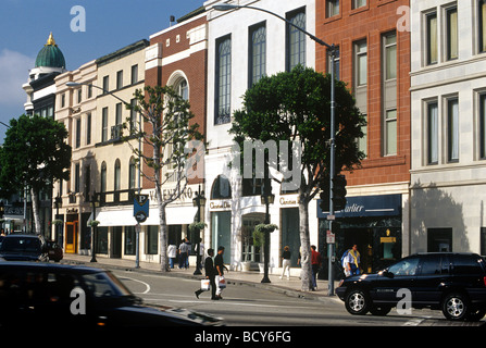 Rodeo Drive in Beverly Hills - Stock Photo