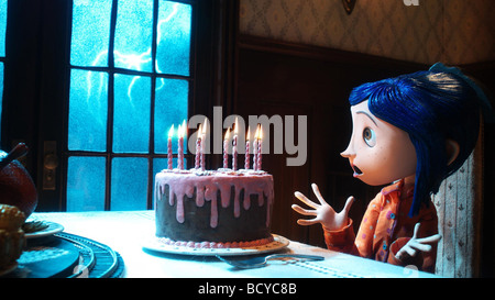 Coraline Year : 2009 Director : Henry Selick Animation Based upon the book of Neil Gaiman - Stock Photo