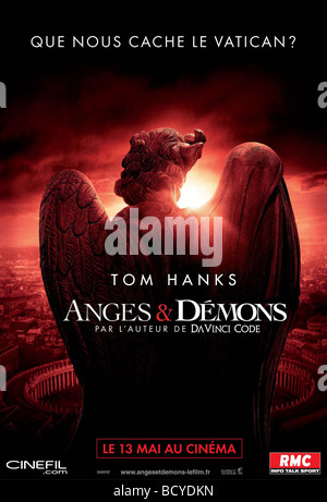 Angels and Demons  Year : 2009  Director : Ron Howard  Movie poster (Fr) Based upon the book of Dan Brown - Stock Photo