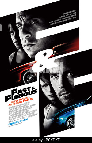 Fast and Furious  Year : 2009  Director : Justin Lin  Movie poster (USA) - Stock Photo