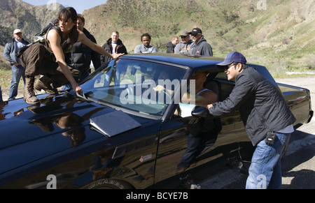 Fast and furious Year : 2009 Director : Justin Lin Jordana Brewster , Vin Diesel, Justin Lin Shooting picture - Stock Photo