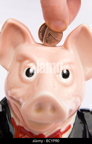 Sir Nathaniel Westminster Natwest piggy bank Stock Photo Royalty