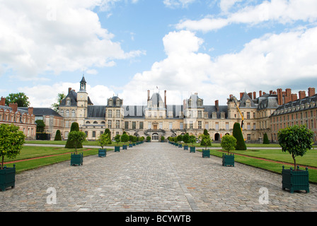 France The royal Palace of Fontainebleau - Stock Photo