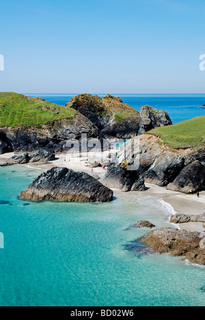 kynance cove near lizard point in cornwall,uk - Stock Photo
